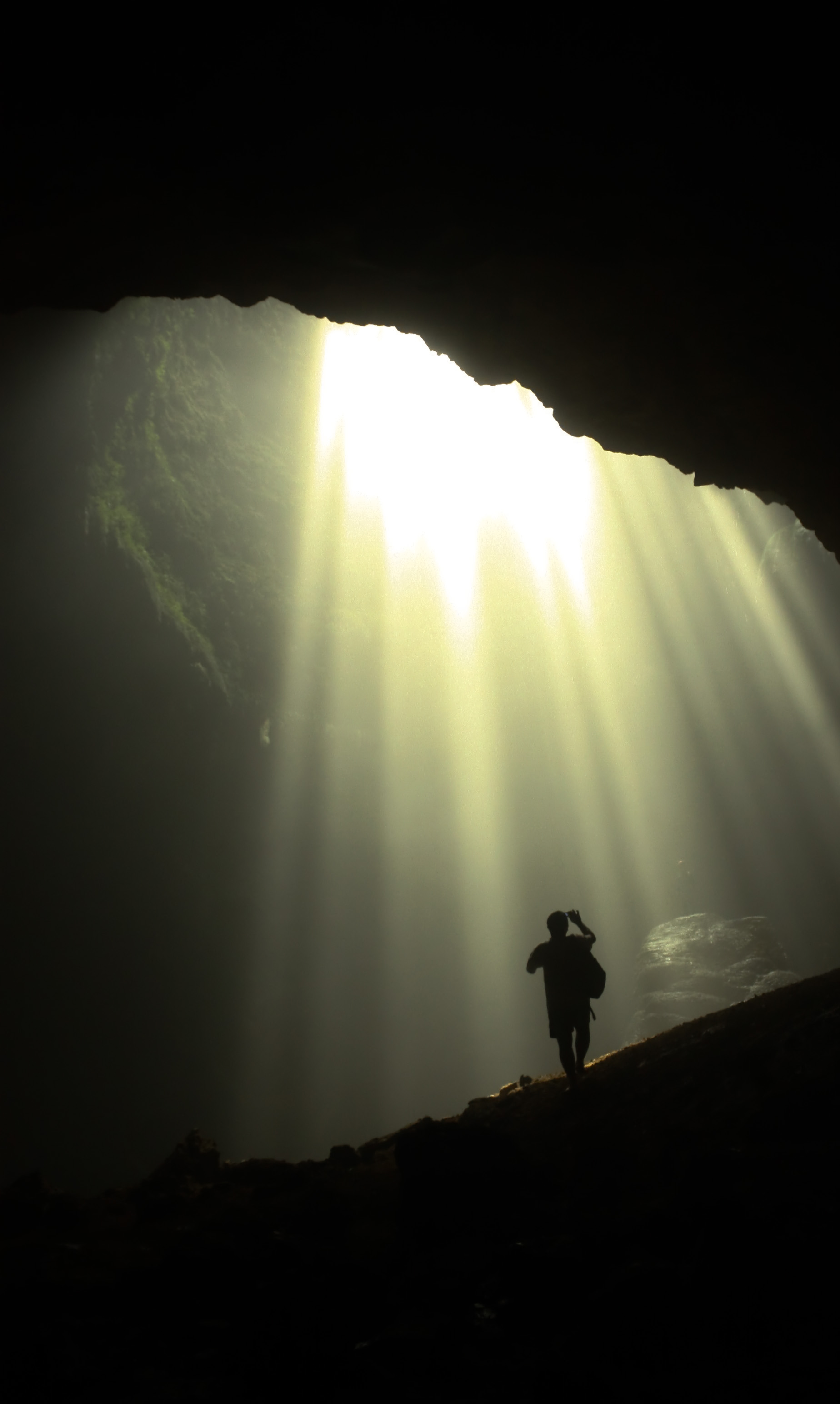 Cave and sun